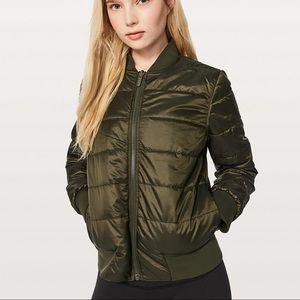 Lululemon Non-Stop Bomber Jacket- Olive Size 2